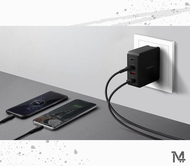 Energea Travel Lite PD66 Dual USB-C Power Delivery Travel Charger