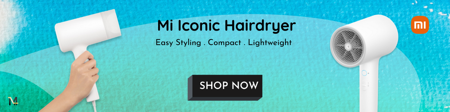 Mi Ionic Hair Dryer Dry rapidly and prevents moisture loss to protect your hair.