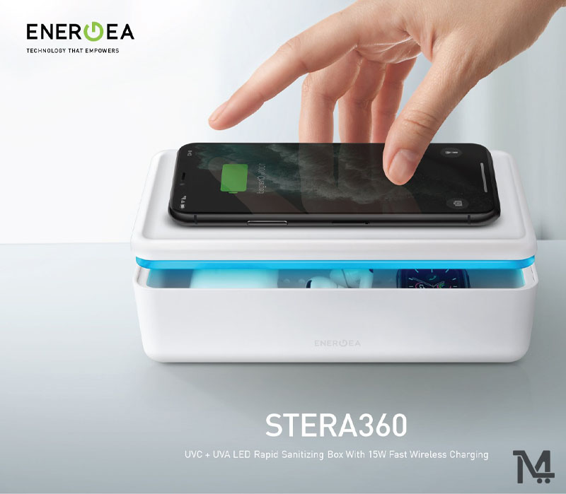 Buy Energea Stera360 UV Sanitizing Box with Wireless Charging at Low Price in Qatar and Doha - Get Free Home Delivery Inside Doha